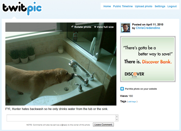 TwitPic Implements OAuth and Gets a New Look | Chris ...