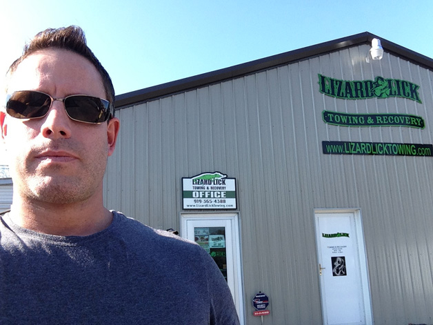 Chris Credendino at Lizard Lick Towing