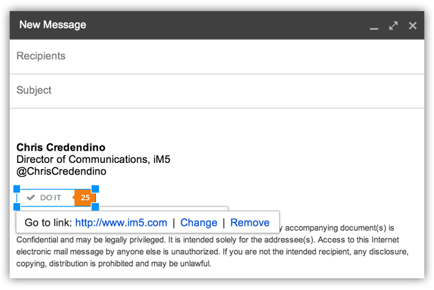 Gmail Spam Settings >> Adding A Hyperlinked Image To Your Gmail Signature | Chris Credendino
